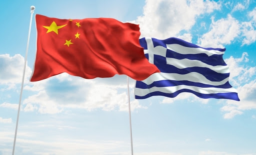 chinese & greek flags